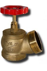 Вентиль КПЛ 65-1 угловой латунь (муфта-цапка) Клапан пожарный муфта-цапка