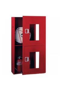 Ш-ПК О-003ВОК (ПК-320ВОК) лев. Шкаф пожарный встроенный со стеклом красный