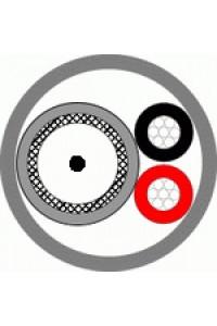КВК-В-3ф 2х0,5 (белый) (Паритет) Кабель комбинированный для систем видеонаблюдения