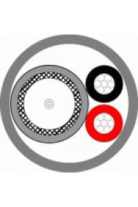 КВК-В-2 2х0,5 (белый) (Паритет) Кабель комбинированный для систем видеонаблюдения