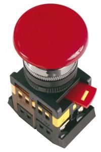 """Кнопка AEAL22 """"Грибок"""" с фиксацией красный D=22мм (BBG60-AEAL-K04) Кнопка красная с фиксацией без подсветки"""
