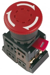 "Кнопка AE-22 """"Грибок"""" с фиксацией красн. D=22мм (BBG10-AE-K04) Кнопка красная с фиксацией без подсветки"