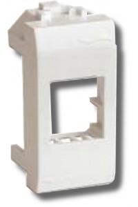 Адаптер для информационных разъемов Keystone, 1 модуль (76607B) Адаптер для информационных разъемов