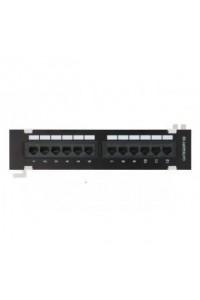 EC-UWP-12-UD2 Патч-панель, 1U, 12 портов, RJ45/8P8C