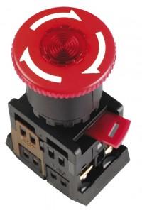 """Кнопка ANE22 """"Грибок"""" с фиксацией красный D=22мм (BBG40-ANE-K04) Кнопка красная с фиксацией с подсветкой"""