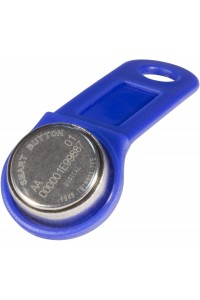 DS 1990А-F5 (синий) Ключ электронный Touch Memory с держателем