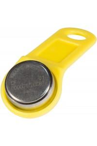 DS 1990А-F5 (желтый) Ключ электронный Touch Memory с держателем