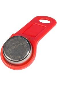 DS 1990А-F5 (красный) Ключ электронный Touch Memory с держателем