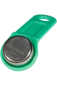 DS 1990А-F5 (зеленый) Ключ электронный Touch Memory с держателем