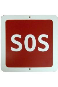"""""""SOS"""" (145х145 мм) Табличка с пиктограммой"""