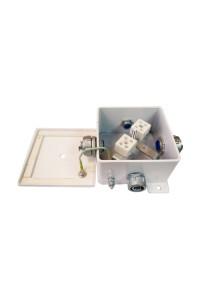 КМ-О (10к)-IP66-120х120, три ввода Коробка монтажная огнестойкая