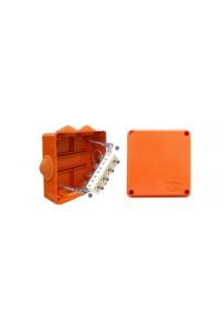 Коробка JBS100 четырехполюсная (1,5…4 мм²) 100х100х55 (43147HF) Коробка монтажная огнестойкая без галогена
